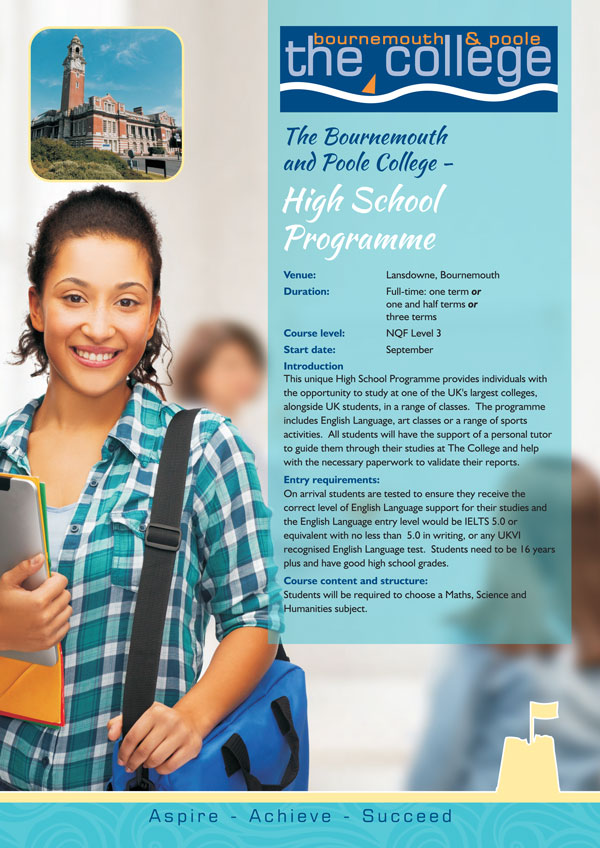 High School Programme Leaflet