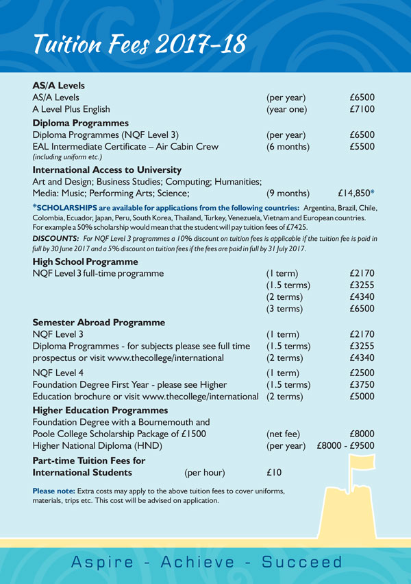 Tuition Fees 2017-18