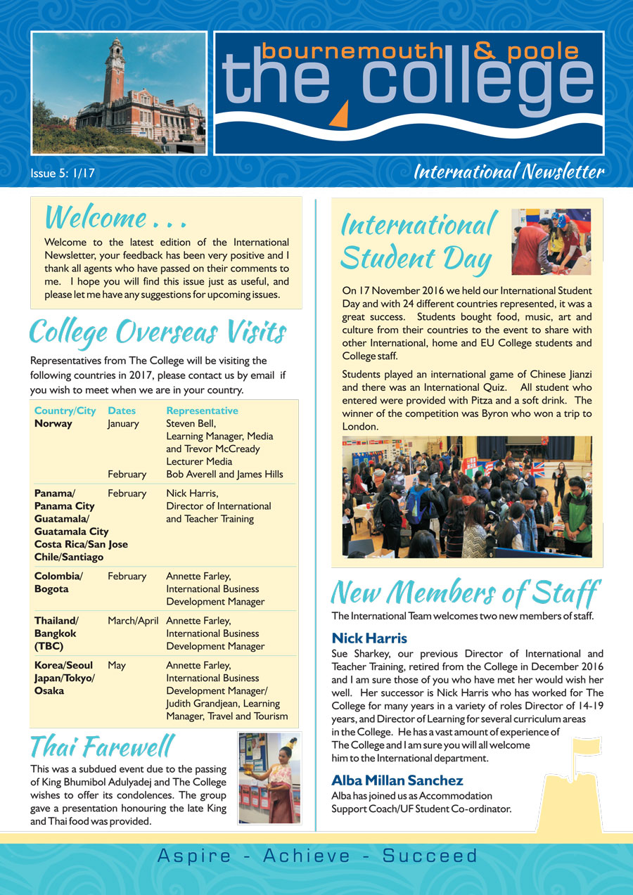 The International College Newsletter Issue 5