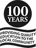 100 year logo 75 x 100px