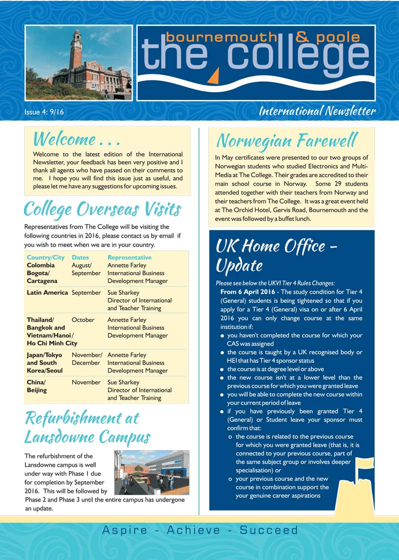 college newsletter july 2016 1 800px the bournemouth poole