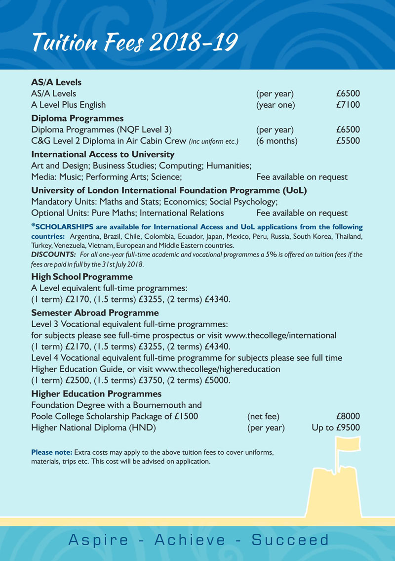 Tuition Fees 2018-19