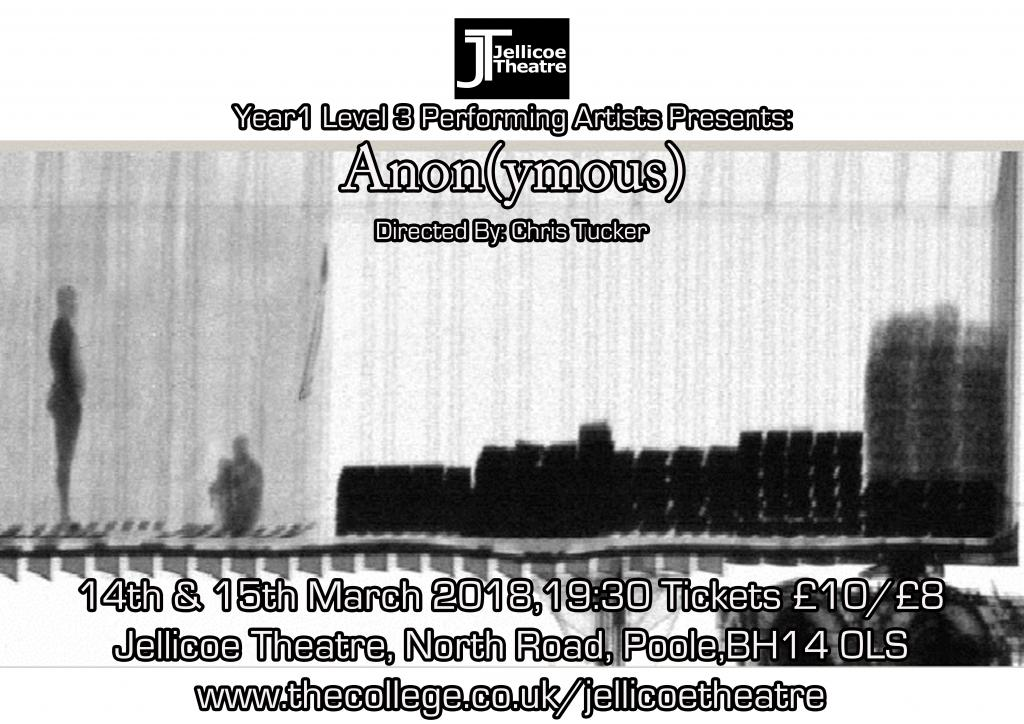 Jellicoe Presents: Anon(ymous)