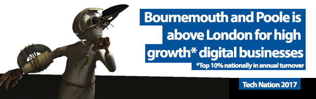 Bournemouth and Poole is above London for high growth digital businesses.
