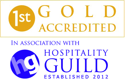 Gold accreditation in association with Hospitality Guild logo