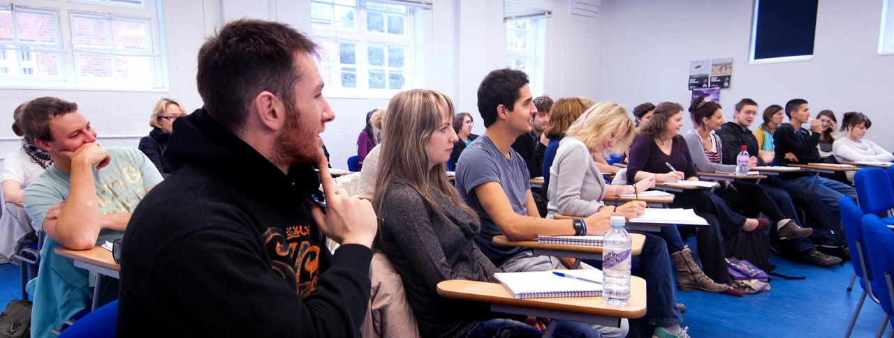 Students in classroom at Bournemouth & Poole College