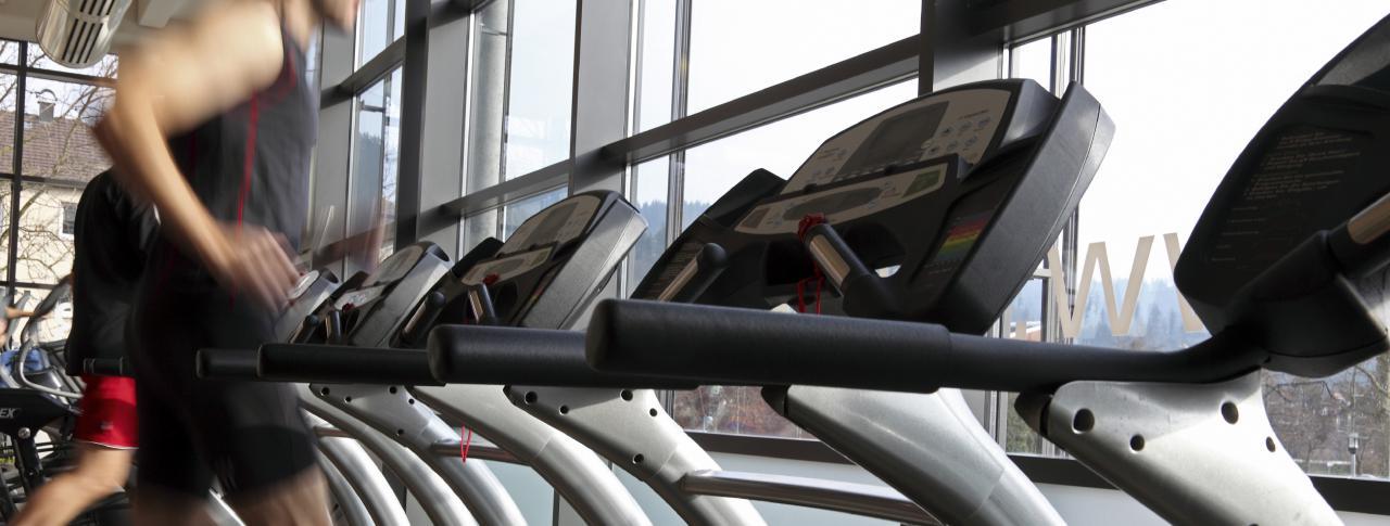 Treadmills within a gym