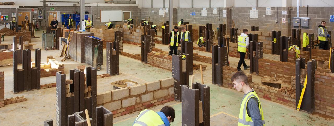 Brickwork workshop at The Bournemouth & Poole College, Dorset.