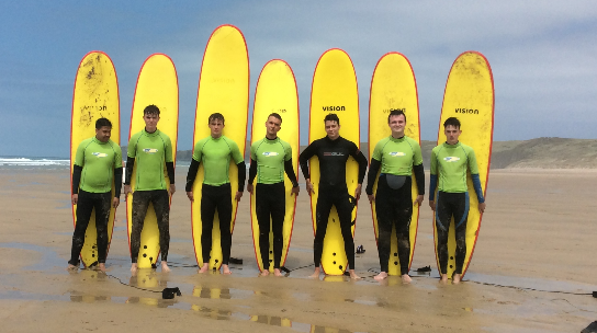 Sport Students Test Their Skills At A 3 Day Surfing Instruction