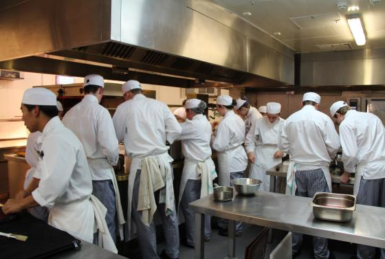 Escoffier kitchen at Bournemouth & Poole College