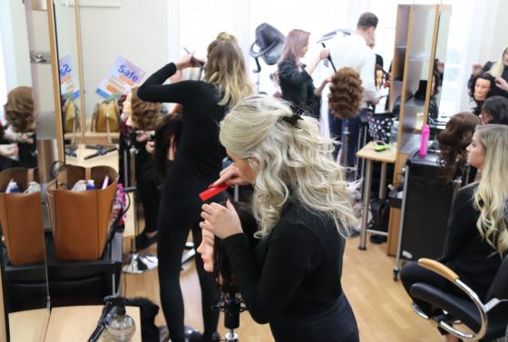 Flaunt Hair and Beauty salon at Bournemouth & Poole College
