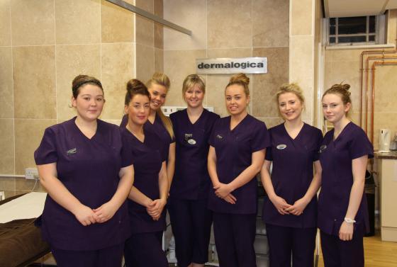 Beauty students in the Flaunt Beauty Salon