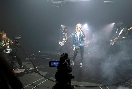Music video filmed at Bournemouth & Poole College