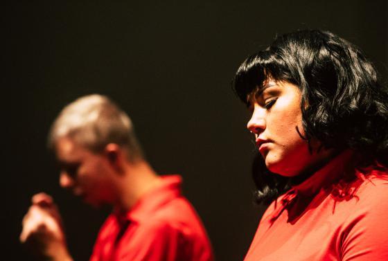 Students performing in Jellicoe Theatre