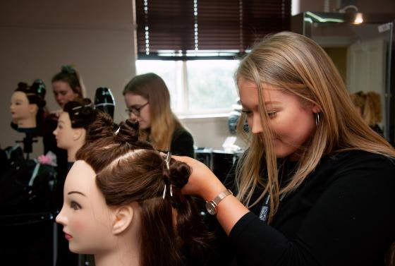 Hair student in the ReNew Salon