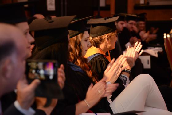 Students at the Bournemouth & Poole College graduation