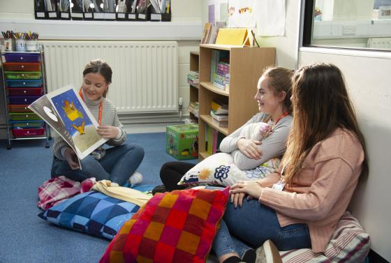 Care students in care classroom