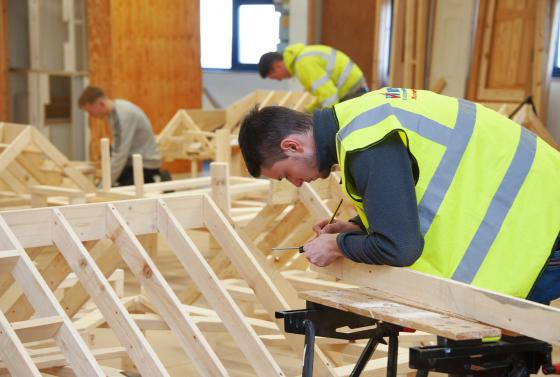 Woodwork Students at The Bournemouth and Poole College