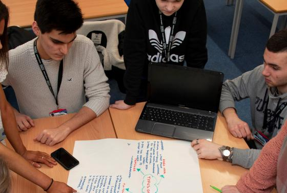 Digital Marketing Students at Bournemouth & Poole College