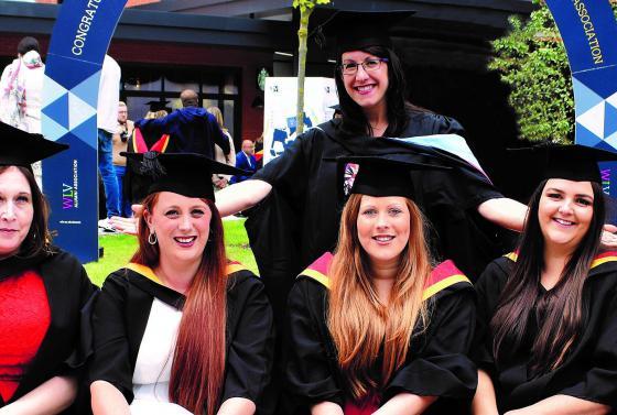 Students graduating at University of Wolverhampton