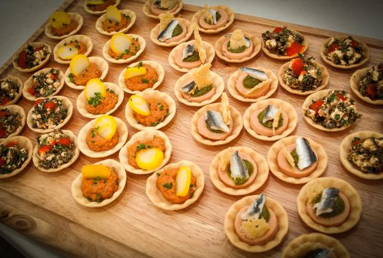 Canapes produced by students from Bournemouth & Poole College