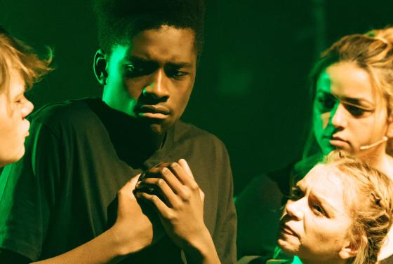 Students acting in the Jellicoe Theatre