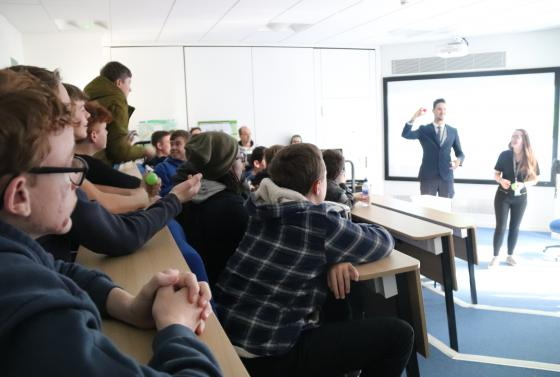 Students learning in lecture at Bournemouth & Poole College