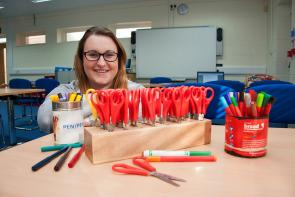 Student getting childcare work experience
