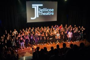 Students performing at The Jellicoe Theatre
