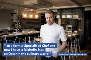 Adam Byatt, former Specialised Chef, now  with a Michelin Star