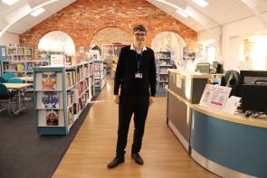 Jack Spenceley, Business Administration Apprentice in work environment