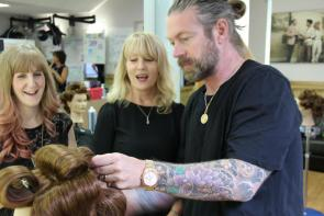 Lee Stafford training our tutors in the Flaunt Salon