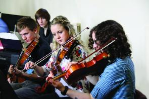 Music students at The College
