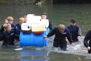 Uniformed Public Services students at Pier Cellars in Cornwall