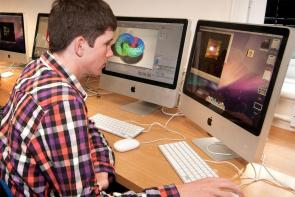 Web and Games student using Mac suite