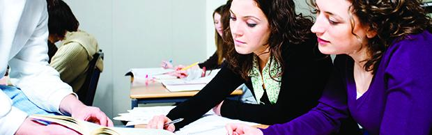 Future accountants learning at The Bournemouth & Poole College