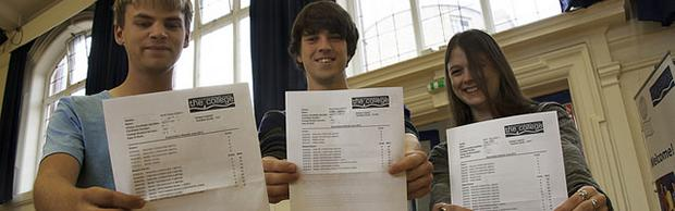 Bournemouth & Poole College students getting their results
