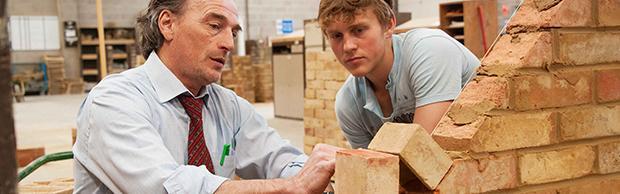 Brickwork student and tutor