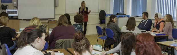 Access to HE student in a classroom at Bournemouth & Poole College