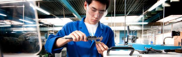 Engineering apprentices at The Bournemouth & Poole College, Dorset