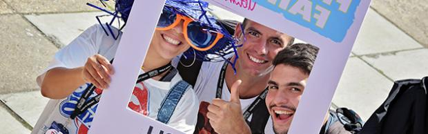 Higehr Education students at Freshers' Fair