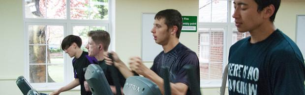 Students in the gym at Bournemouth & Poole College