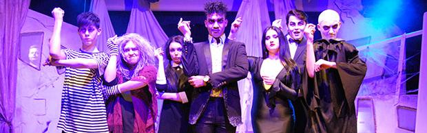 Performing Arts students performing the Addams Family