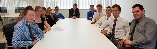 The Enterprise Academy students
