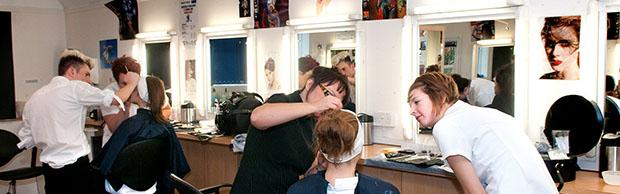 Students in a beauty lesson
